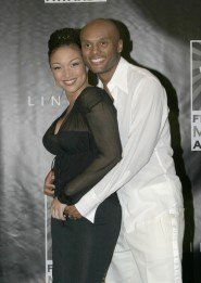 Kenny Lattimore and wife Chante Moore during 2003 Film Live Movie Awards Red Carpet at Jackie Gleason Theater in Miami Beach, Fl, United States. (Photo by Rodrigo Varela/WireImage)